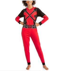 NEW Marvel Deadpool Union Suit Costume Pajamas